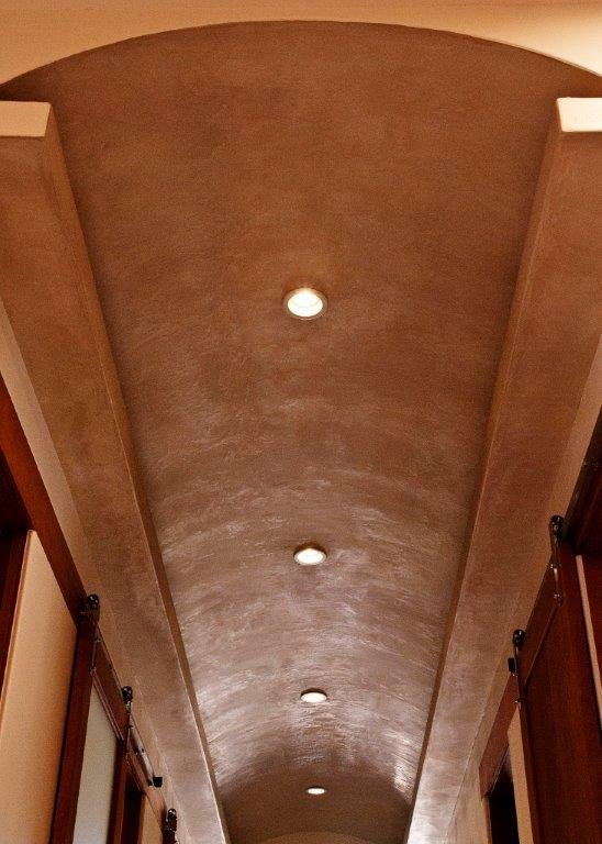 interior stucco in Austin building